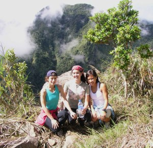 With Mona and Pia atop Mt. Kitanglad