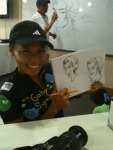 Thanks for the pic Pia! I decided to draw as well during the art class for indigent kids